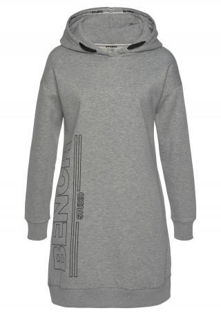 BENCH Šaty  sivá melírovaná / čierna dámské 32-34