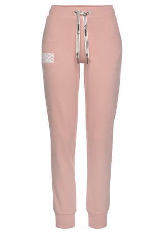 BENCH Športové nohavice  béžová / biela dámské L