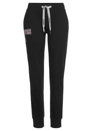 BENCH Športové nohavice  čierna / svetlofialová dámské 40-42