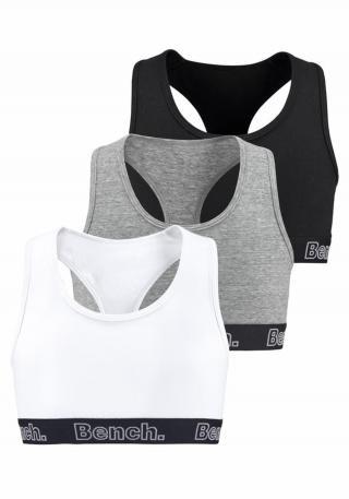 BENCH Súpravy bielizne  sivá / čierna / biela dámské 170-176