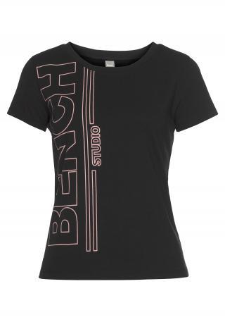 BENCH Tričko  čierna / staroružová dámské L-XL
