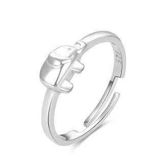 Beneto Hravý strieborný prsteň na nohu Slon AGGF490 dámské strieborná