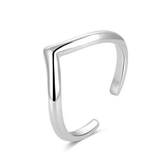 Beneto Minimalistický strieborný prsteň na nohu AGGF493 dámské strieborná