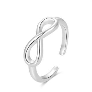 Beneto Módne strieborný prsteň na nohu nekonečno AGGF492 dámské strieborná