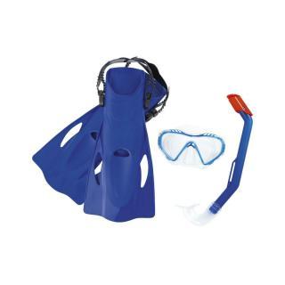Bestway Šnorchlovacie set Firefish modrá - plutvy, okuliare, šnorchel