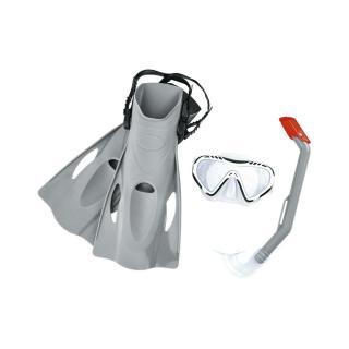 Bestway Šnorchlovací set Firefish sivá - plutvy, okuliare, šnorchel