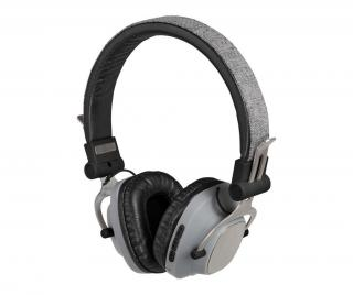 Bezdrátové sluchátka Bluetooth s mikrofonem Compatible Grey Šedá & Stříbrná