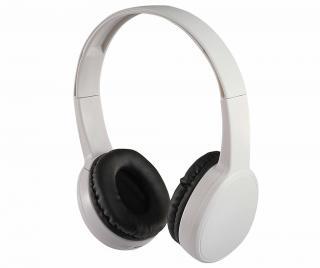 Bezdrátové sluchátka Bluetooth s mikrofonem Premium White Bílá