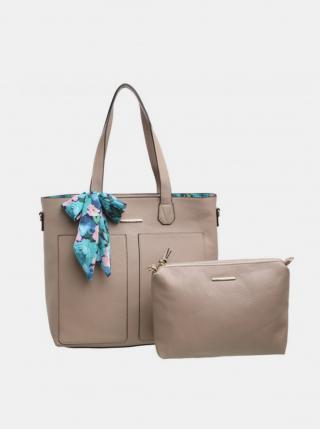 Béžová kabelka s púzdrom a ozdobnou šatkou Bessie London dámské