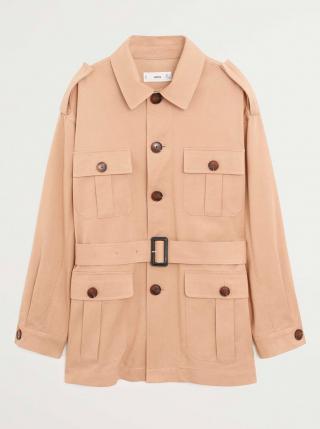 Béžová ľahká bunda s vreckami Mango Cesi dámské M