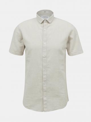 Béžová ľanová košeľa Lindbergh pánské S