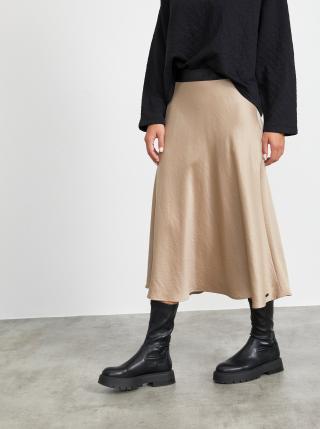 Béžová maxi sukňa METROOPOLIS Olympie dámské S