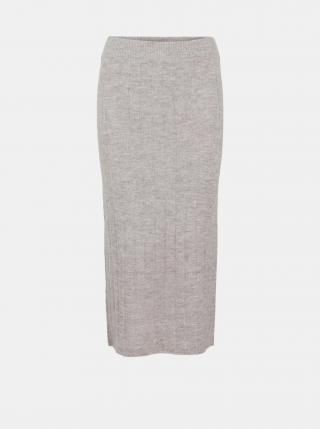 Béžová púzdrová midi sukňa Pieces Giana dámské L