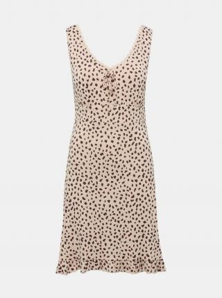 Béžová vzorovaná nočná košeľa M&Co dámské ružová XXL