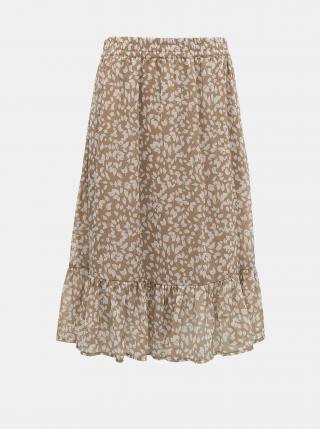 Béžová vzorovaná sukňa Jacqueline de Yong Rufus dámské L