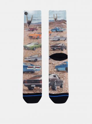 Béžové pánske vzorované ponožky XPOOOS pánské béžová 39-42
