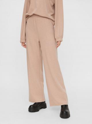Béžové široké nohavice Pieces - S dámské béžová S