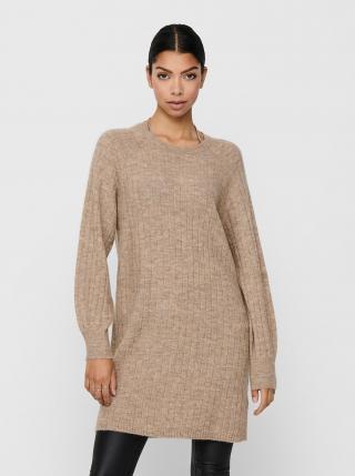 Béžové svetrové šaty ONLY dámské béžová XS