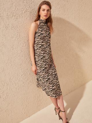 Béžové vzorované šaty Trendyol dámské béžová M