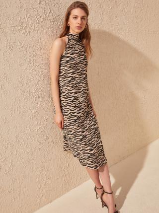 Béžové vzorované šaty Trendyol - XS dámské béžová XS