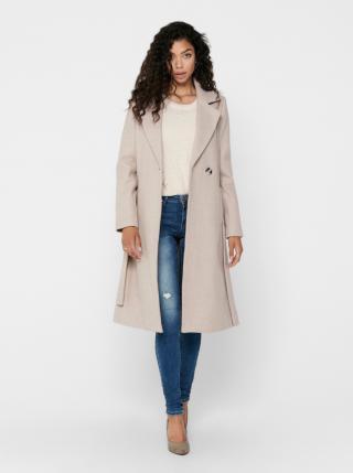 Béžový vlnený kabát ONLY Gina dámské béžová S