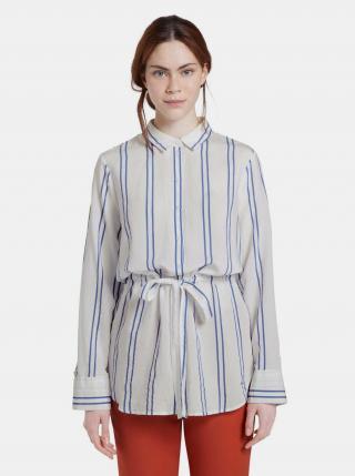 Biela dámska pruhovaná košeľa Tom Tailor Denim dámské XL
