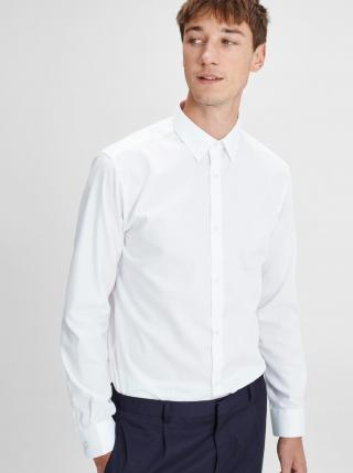 Biela formálna slim fit košeľa Jack & Jones Non pánské L