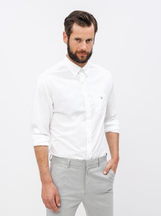 Biela pánska regular fit košeľa GANT pánské M