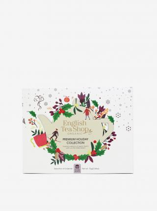 Biela vianočná čajová kolekcia English Tea Shop