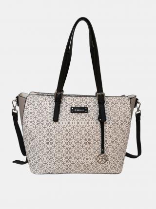 Biela vzorovaná kabelka Gionni dámské