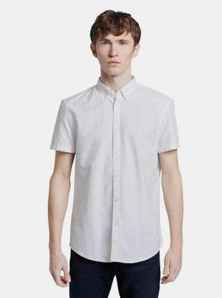 Biela vzorovaná pánska košeľa Tom Tailor Denim pánské M