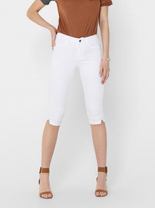 Biele 3/4 nohavice Jacqueline de Yong Nikki dámské biela XS