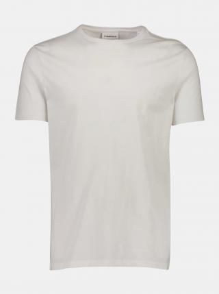 Biele basic tričko Lindbergh pánské biela XXL