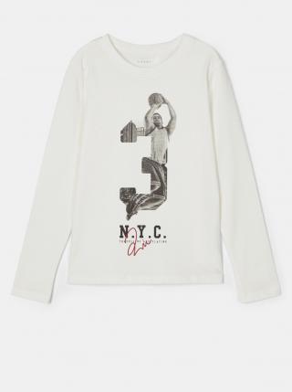 Biele chlapčenské tričko s potlačou name it biela 146-152