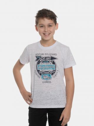 Biele chlapčenské tričko s potlačou SAM 73 biela