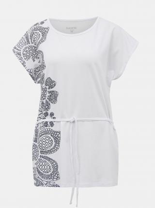 Biele dámske tričko s viazaním SAM 73 dámské biela S