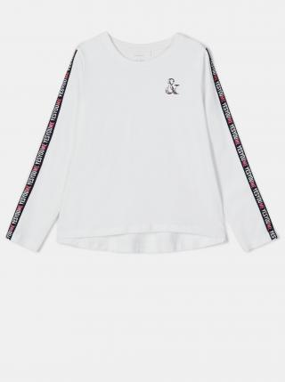 Biele dievčenské tričko s potlačou name it biela 116