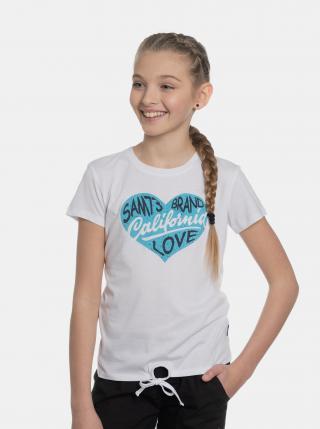 Biele dievčenské tričko s potlačou SAM 73 biela 128