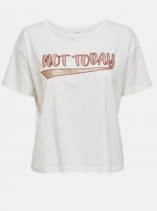 Biele krátke tričko s potlačou Jacqueline de Yong Fang - L dámské biela L
