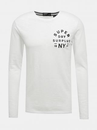 Biele pánske tričko s pásom Superdry pánské biela L