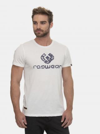 Biele pánske tričko s potlačou Ragwear Charles - S pánské biela S