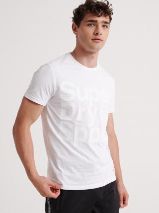Biele pánske tričko s potlačou Superdry pánské biela M