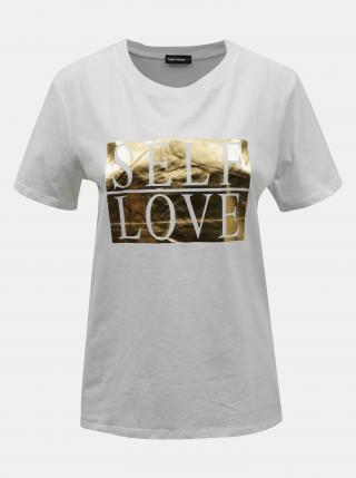 Biele tričko s potlačou TALLY WEiJL - XS dámské biela XS
