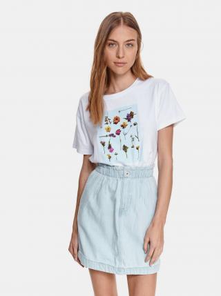 Biele tričko s potlačou TOP SECRET dámské biela XL