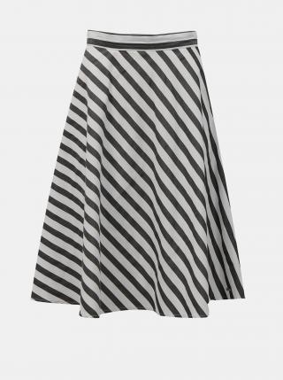 Bielo-čierna pruhovaná sukňa ZOOT Simona dámské L