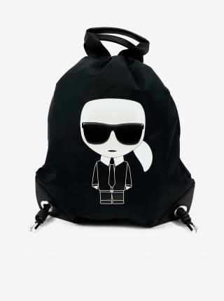 Bielo-čierny batoh KARL LAGERFELD dámské čierna