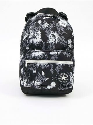 Bielo-čierny vzorovaný unisex batoh Converse Go Lo Mini Backpack pánské čierna