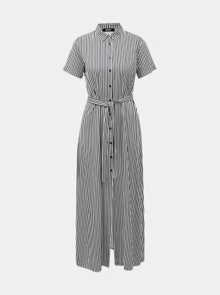 Bielo-modré pruhované košeľové maxišaty ZOOT Lorelei dámské tmavomodrá L
