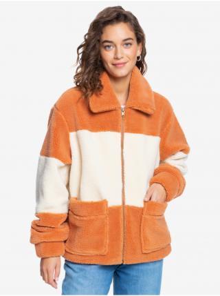 Bielo-oranžová pruhovaná bunda Roxy dámské XS