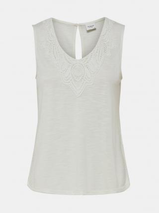 Biely top s krajkou Jacqueline de Yong Dodo dámské biela L